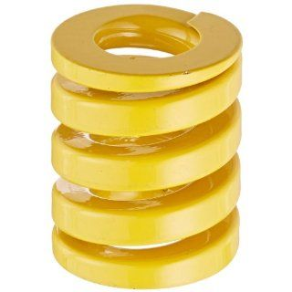 "Die Spring, Extra Heavy Duty, Closed & Ground Ends, Yellow, 32"" Hole Diameter, 16"" Rod Diameter, 38"" Free Length, 478.3lbs Spring Rate (Pack of 10) Compression Springs"