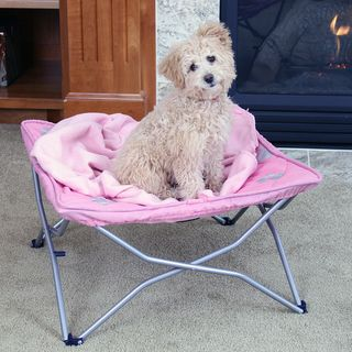 Carlson Portable Pup Pink Travel Pet Bed Carlson Pet Products Pet Cots