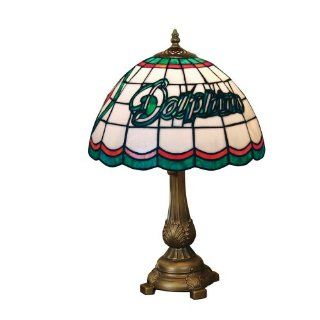 NFL Miami Dolphins Tiffany Table Lamp  Furniture  Sports & Outdoors
