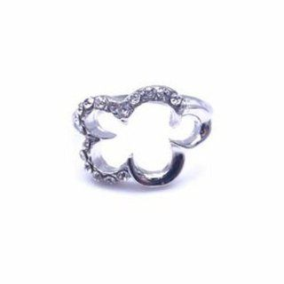 Fashion Ladies Women Silver Flower Shape Crystal Finger Ring  Other Products