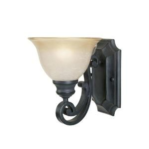 Designers Fountain Monte Carlo 1 Light Natural Iron Wall Sconce HC0368