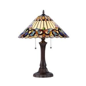 Chloe Lighting Ambrose 22 in. Tiffany Style Victorian Table Lamp with 16 in. Shade CH33318VI16 TL2