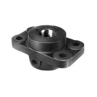 Flange bearing DIN 503 A with red brass bush bore 80mm D10 material grey cast iron