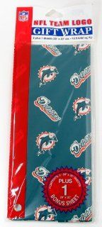 NFL Miami Dolphins Wrapping Paper  Desk Caddies  Sports & Outdoors