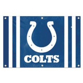 Indianapolis Colts 2x3 Flag Banner Applique Embroidered NFL Football  Sports Fan Wall Banners  Sports & Outdoors