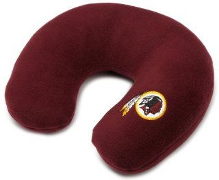 NFL Washington Redskins Embroidered U Shaped Fleece Travel Neck Pillow (Burgundy)  Sports Fan Throw Pillows  Sports & Outdoors
