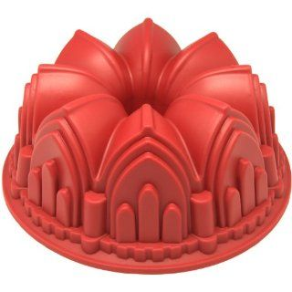 Freshware CB 506RD Cathedral Bundt Cake Silicone Mold Kitchen & Dining