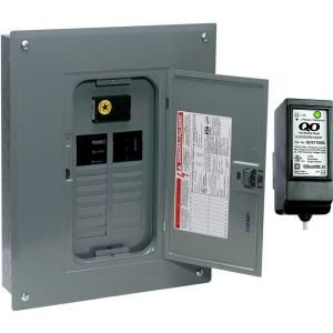 Square D by Schneider Electric QO 100 Amp 20 Space 20 Circuit Indoor Main Breaker Load Center with Cover with Surge Breaker SPD QO120M100CSB