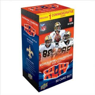Upper Deck UD10FBSB44NOR NFL 2010 Super Bowl 44 Champions Boxed Collector's Edition Trading Card Set   New Orleans Saints at 's Sports Collectibles Store