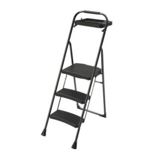 Easy Reach by Gorilla Ladders Pro Series Steel 3 Step Project Stool Ladder with 225 lb. Load Capacity HB3 PL