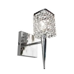 BAZZ Glam Sephora 1 Light Brushed Chrome Wall Sconce M3020DC