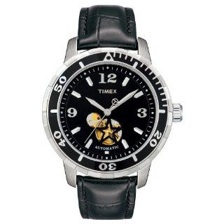 Timex Women's T2M509 Sport Luxury Automatic Black Leather StrapWatch Timex Watches