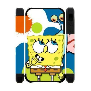 Classic Cartoon SpongeBob Squarepants iPhone 4 4s Case Cover Cell Phones & Accessories