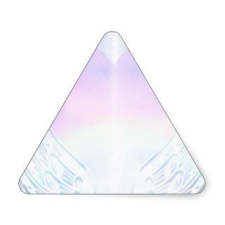 Angel Wings Background Triangle Sticker