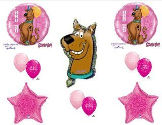 SCOOBY DOO Happy Birthday Party balloons decorations supplies dog pink