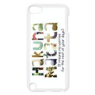 Funny Hakuna Matata For IPod Touch 5th Black or White Durable Plastic Case Creative New Life Cell Phones & Accessories