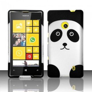 CUTE PANDA HARD MATTE PHONE COVER CASE FOR NOKIA LUMIA 521 + SCREEN PROTECTOR [In Casesity Retail Packaging]