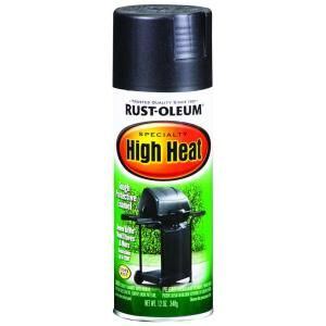 Rust Oleum Specialty 12 oz. Bar B Que Black Satin High Heat Spray Paint 7778830