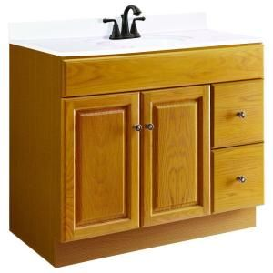 Design House Claremont 36 in. W x 18 in. D Vanity Cabinet Only Unassembled in Honey Oak 545178