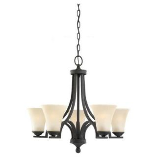Sea Gull Lighting Somerton 5 Light Blacksmith Single Tier Chandelier 31376 839