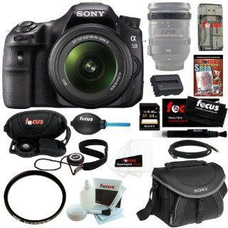 "Sony SLTA58 SLT A58K 20.1MP Translucent Mirror/ DSLR Camera with 2.7"" LCD Screen & 18 55mm Lens(Black) + Sony 64GB Memory Card + Replacement Battery + Sony Small System Case + Snap Jumpstart Guide DVD + Accessory Kit  Digital Slr Camera Bundles"