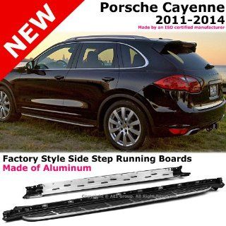 2011 to 2014 Porsche Cayenne 11 14 Aluminum Running Board Side Steps Nerf Bars Gunmetal Black Automotive
