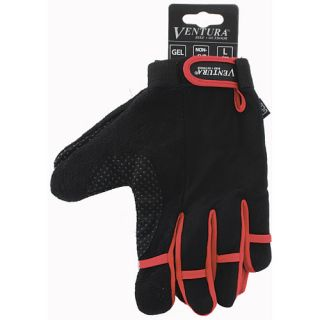 Ventura Full Finger Gloves   Size XL/Extra Large, Red (719952 R)
