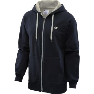 CHAMPION Mens Eco Fleece Full Zip Hoodie   Size Medium, Navy