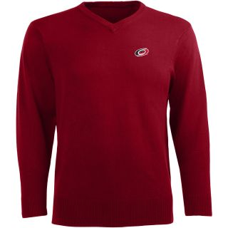 Antigua Mens Carolina Hurricanes Ambassador Knit V Neck Sweater   Size