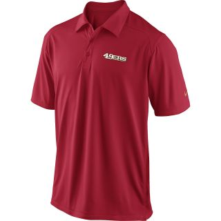 NIKE Mens San Francisco 49ers Dri FIT FB Coaches Polo   Size Small, Red/gold
