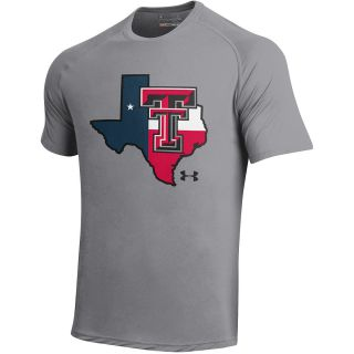 UNDER ARMOUR Mens Texas Tech Red Raiders Tech Short Sleeve T Shirt   Size