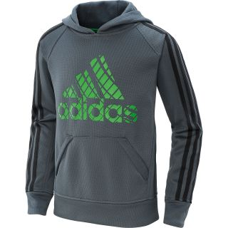 adidas Boys Tech Fleece Pullover Hoodie   Size Small, Dk.onyx