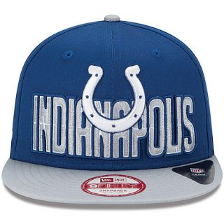 NEW ERA Mens Indianapolis Colts Draft 9FIFTY Snapback Cap, Blue