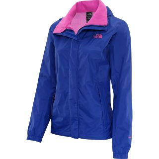 THE NORTH FACE Womens Resolve Rain Jacket   Size Large, Marker Blue/pink