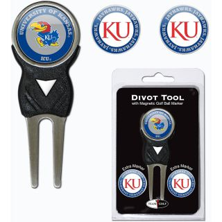 Team Golf University of Kansas Jayhawks 3 Marker Signature Divot Tool Pack