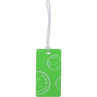 LEWIS N CLARK Neon Luggage Tag, Green