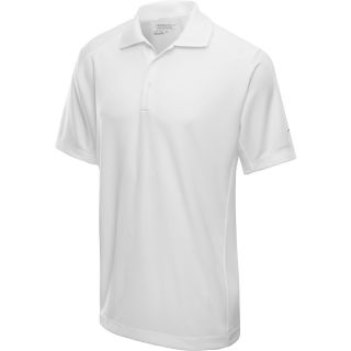 NIKE Mens Tech Jersey Golf Polo   Size Large, White/black