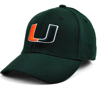 TOP OF THE WORLD Mens Miami Hurricanes Premium Collection Team Color One Fit