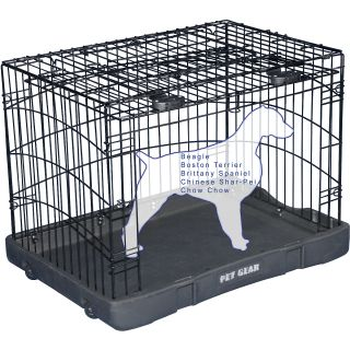 Pet Gear Travel Lite Steel Crate   Size 30, Black (TL5930BK)