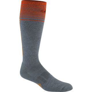 SMART WOOL Womens Light Cushion Ski Socks   Size Large, Graphite/orange