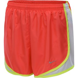 NIKE Womens Tempo Running Shorts   Size Large, Laser Crimson/white