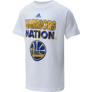 adidas Youth Golden State Warriors NBA Nation Short Sleeve T Shirt   Size