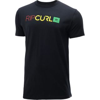 RIP CURL Mens Baked Premium Short Sleeve T Shirt   Size Large, Black