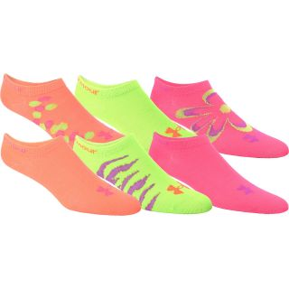 UNDER ARMOUR Girls Mix & Match Training No Show Socks   3 Pack   Size Small,