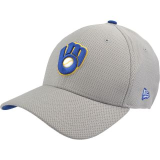 NEW ERA Mens Milwaukee Brewers Custom Design 39THIRTY Stretch Fit Cap   Size