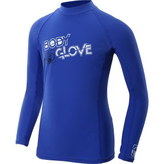 BODY GLOVE Kids Long Sleeve Rashguard   Size 8, Royal