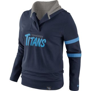 NIKE Womens Tennessee Titans Play Action Hooded Top   Size Small, College