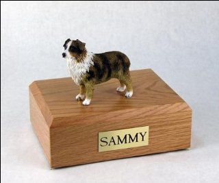 Australian Shepherd Dog Figurine Pet Cremation Urn   533   Home And Garden Products