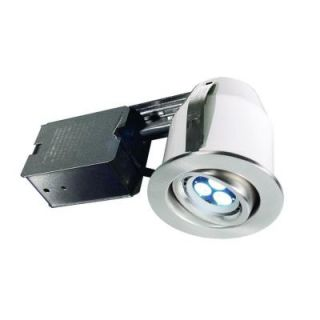 BAZZ 303 Series 3 in. Brushed Chrome LED Recessed Lighting Kit DISCONTINUED 303LED4B