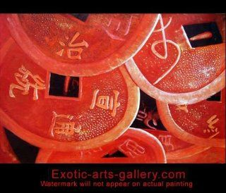 Abstract Art Oil Painting Feng Shui Money Luck Hand Painted Stretched Framed Ready to Hang 5 534